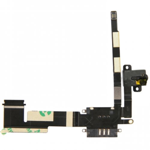 Original Audio Jack Flex Cable with 3G Card Holder Connector for iPad 2 WiFi and 3G