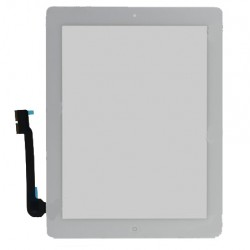 For white iPad 3 Touch Screen Digitizer Assembly (include Front Camera Holder,Home Button,Home Button Holder,3M Adhesive)