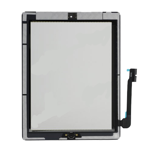 OEM For iPad 3 Touch Screen Digitizer Assembly (include Front Camera Holder,Home Button,Home Button Holder,3M Adhesive)-White