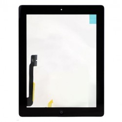 For iPad 3 Touch Screen Digitizer Assembly (include Front Camera Holder,Home Button,Home Button Holder,3M Adhesive)-Black