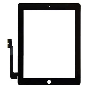For iPad 3 iPad 4  Touch Screen Digitizer repair part -Black