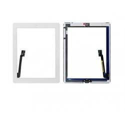 High quality Touch Screen Digitizer Assembly with Front Camera Holder + Home Button + Home Button Holder - White for iPad 4