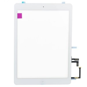 High quality White for iPad Air Touch Screen Assembly( Camera Holder + Home Button + Home Button Flex Cable + Touch Screen Digitizer Adhesive)