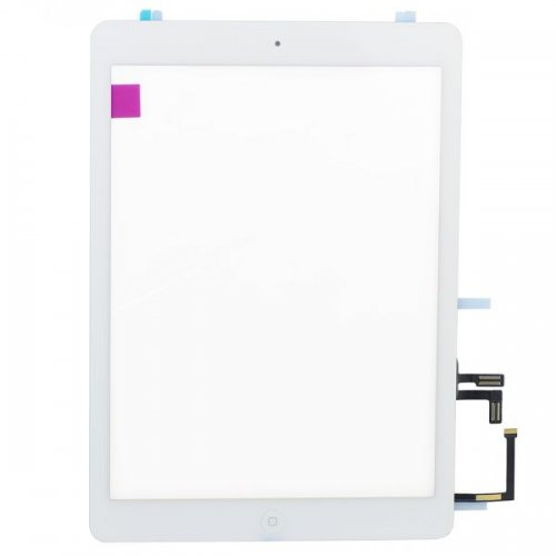OEM White for iPad Air Touch Screen Assembly( Camera Holder + Home Button + Home Button Flex Cable + Touch Screen Digitizer Adhesive)