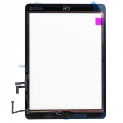 OEM Black for iPad Air Touch Screen Assembly( Camera Holder + Home Button + Home Button Flex Cable + Touch Screen Digitizer Adhesive)