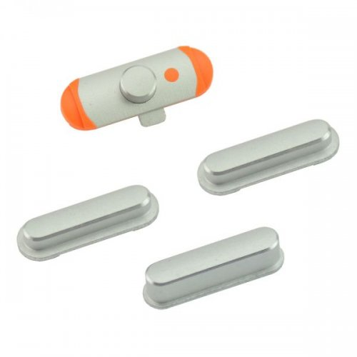 Side Buttons Power Volume Mute Button Replacement Part for iPad Mini - Silver