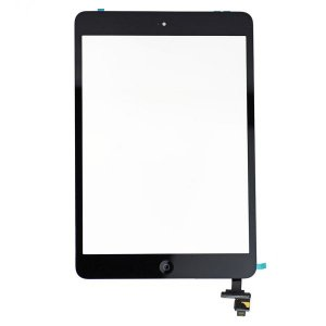 Original Black Digitizer Touch Screen Assembly with IC Connector  Chip for iPad  Mini and Mini 2 Retina