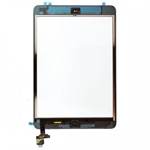 OEM Black Digitizer Touch Screen Assembly with IC Connector  Chip for iPad  Mini and Mini 2 Retina