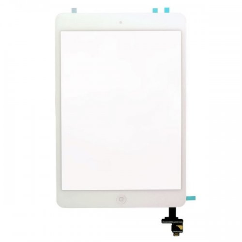Original White Digitizer Touch Screen Assembly with IC Connector  Chip for iPad  Mini and Mini Retina