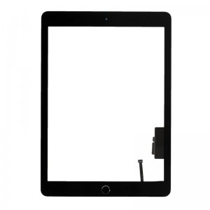 Touch Screen Digitizer for iPad New 2017 with Black Home Button Assembly Black