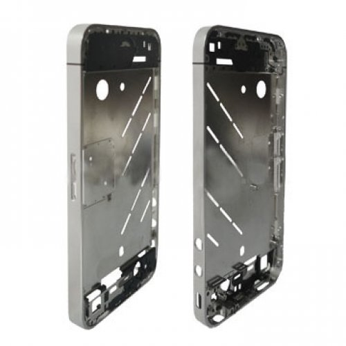 Empty Chrome Bezel Frame with Middle Plate Board for iphone 4