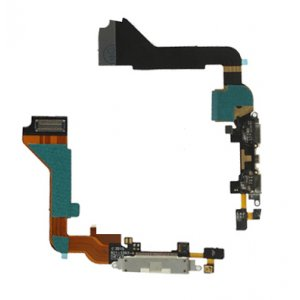 Original Dock Connector Charging Port Flex Cable for iPhone 4 4G White
