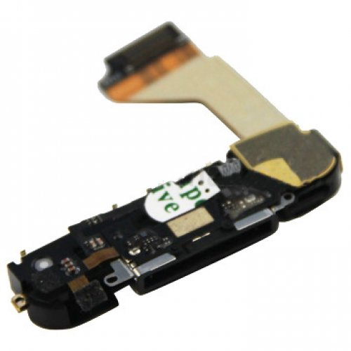 Original Black Dock Charging Port Connector flex cable Assembly for iPhone 4