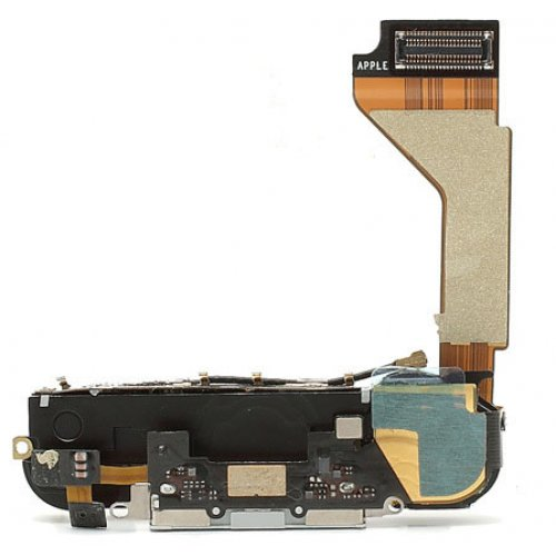 Original White Dock Charging Port Flex Cable Assembly for iPhone 4