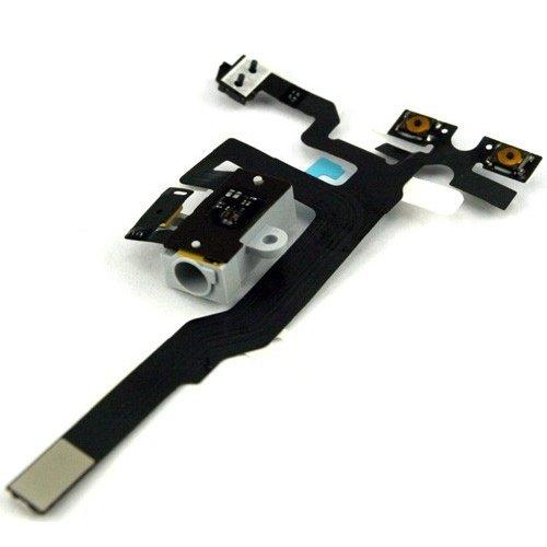 Original For iPhone 4S Headphone Audio Jack Flex Cable Black