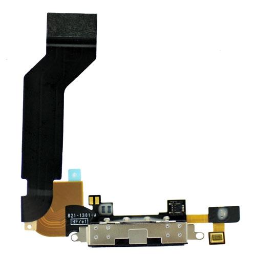 Original Black for iphone 4s Dock Connector Charging Port Flex Cable Ribbon