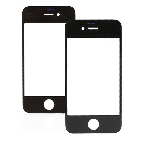 For iPhone 4/4S Front Glass Lens Black