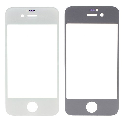 For iPhone 4/4S Front Glass Lens White