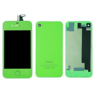 Green LCD Display Touch Screen Digitizer with same color Home Button and Back CoverFor iPhone 4S