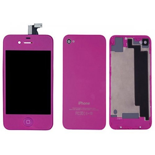 Purple LCD Display Touch Screen Digitizer with same color Home Button and Back CoverFor iPhone 4S