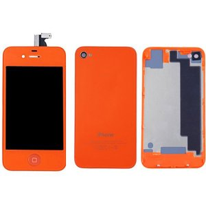 Orange LCD Display Touch Screen Digitizer with same color Home Button and Back CoverFor iPhone 4S
