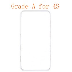 For iPhone 4s Frame with Hot Melt Glue or 3M Sticker Black Grade A