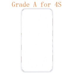 For iPhone 4s Frame with Hot Melt Glue or 3M Sticker White Grade A