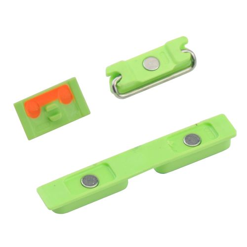 Power Volume Mute 3 Buttons  For iPhone 5C - Green