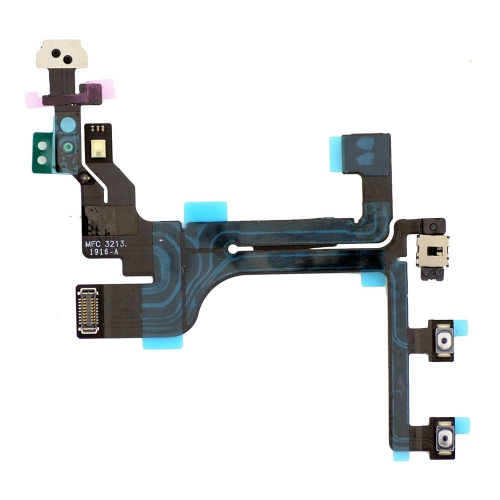 Original Power Volume Button Flex Cable Ribbon for iPhone 5C