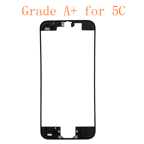 For iPhone 5C Frame Bezel with Hot Melt Glue or 3M Sticker Attached Black Grade A+