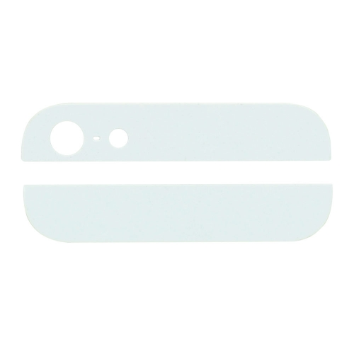 For iPhone 5 Top and Bottom Glass For Back Housing -White