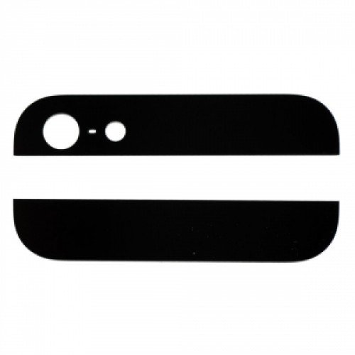 For iPhone 5 Top and Bottom Glass For Back Housing -Black