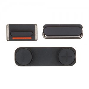 Black For iPhone 5 Power Volume Mute Button
