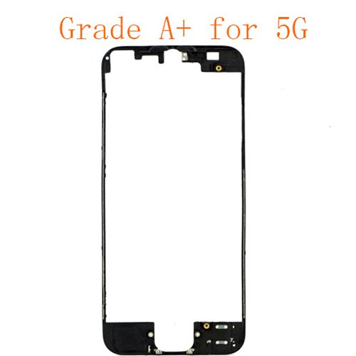 For iPhone 5 Front Supporting Frame with Glue or 3M Sticker Black Grade A+