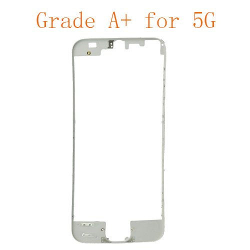 For iPhone 5 Frame Bezel with Glue or 3M Sticker Attached White Grade A+