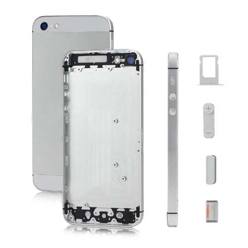 White Replacement part Full Housing Back Battery Cover Middle Frame Metal Back Housing For iphone 5