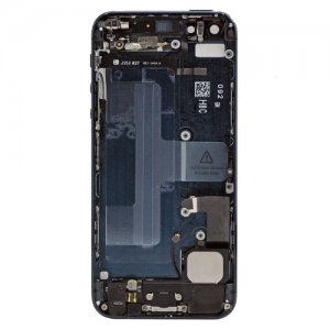 Black Replacement part Back Battery Cover Middle Frame Metal Back Housing With Small Parts For iphone 5