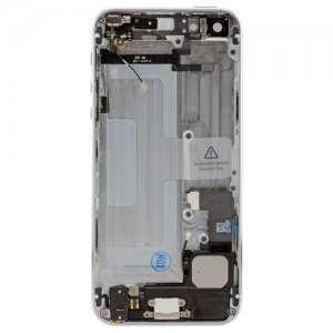 White Replacement part Back Battery Cover Middle Frame Metal Back Housing With Small Parts For iphone 5