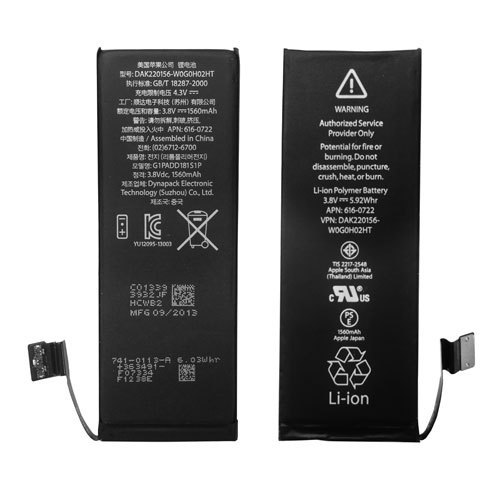 Original ic Internal Li-ion Battery Replacement for iPhone 5s
