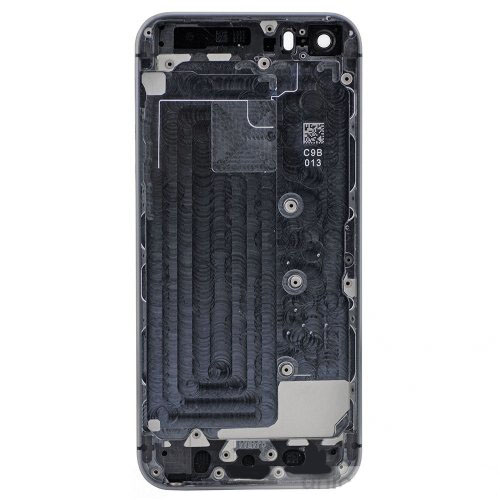 Grey Back Housing Cover with Side Buttons for iPhone 5S