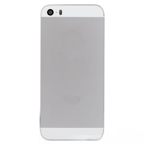 White / Silver Back Housing Cover with Side Button...