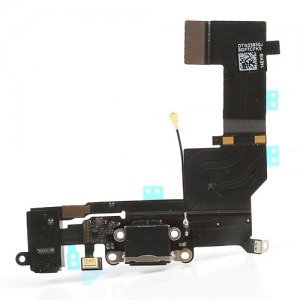 Original Black dock Connector Charging Port Flex Cable for iPhone 5S