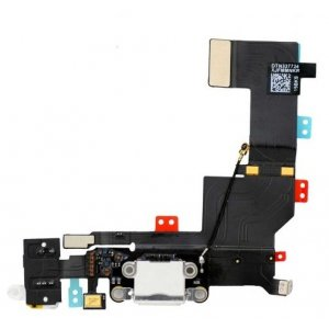 Original White dock Connector Charging Port Flex Cable for iPhone 5S