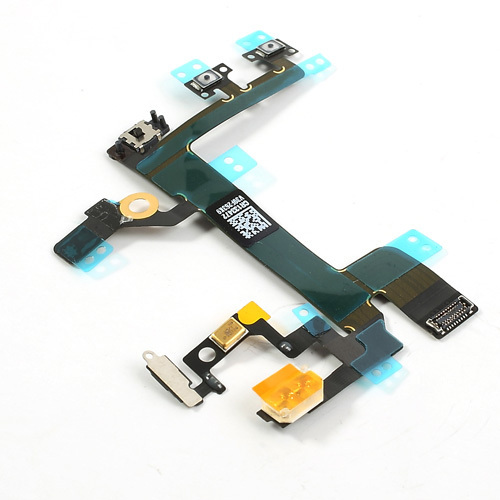 Original Power On/Off Volume Button Flex Cable Ribbon For iPhone 5S