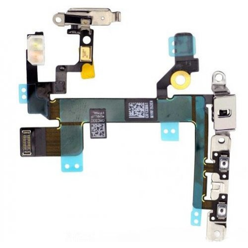 Power ON/OFF Control Flex Cable Assembly with metal plate for iPhone 5S