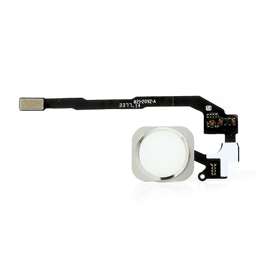 iPhone 5S Home Button with PCB Membrane Flex Cable -white