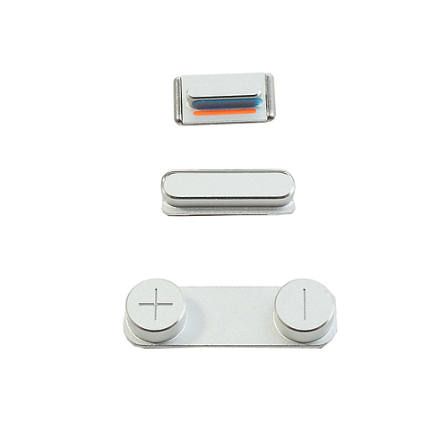 Original Silver Power Volume Mute Button Key Kit Set for iPhone 5s