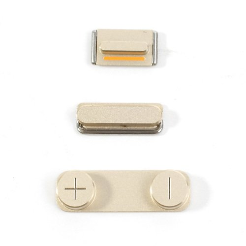 Original Gold Power Volume Mute Button Key Kit Set for iPhone 5s