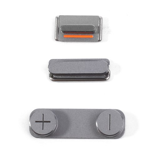 Original Grey Power Volume Mute Button Key Kit Set for iPhone 5s