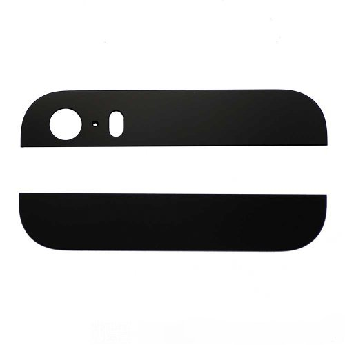 Black Top and Bottom Glass Cover Replacement for iPhone 5s